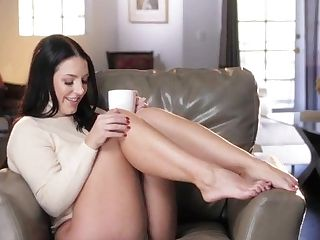 Black Hair Beauty With Big Tits Angel Solo Frigging