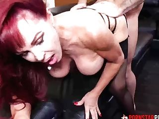 Pornstarplatinum Red-haired Cougar Sexy Vanessa Fucks Youthfull Stud