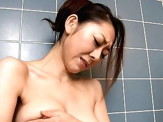 Steamy Japanese Mummy Ruri Hayami Drills Her Vagina With Fake Penis