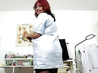 Fat And Gross Adela Desires To Kittle Her Matures Puss In The Hospital