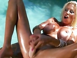 Swedish Mummy Puma Swede Fondles Puss Raw With Oily Dick Faux-cock!