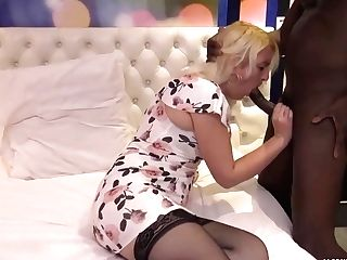 Matures Blonde Woman, Alysee Is Having Casual Bang-out With A Black Stud, And Liking It A Lot