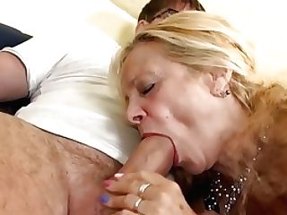 Huge-titted Gilf Takes Youthful Sausage In Her Old Crevices