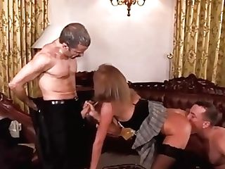 Mummy Maid Serves Double Penetration